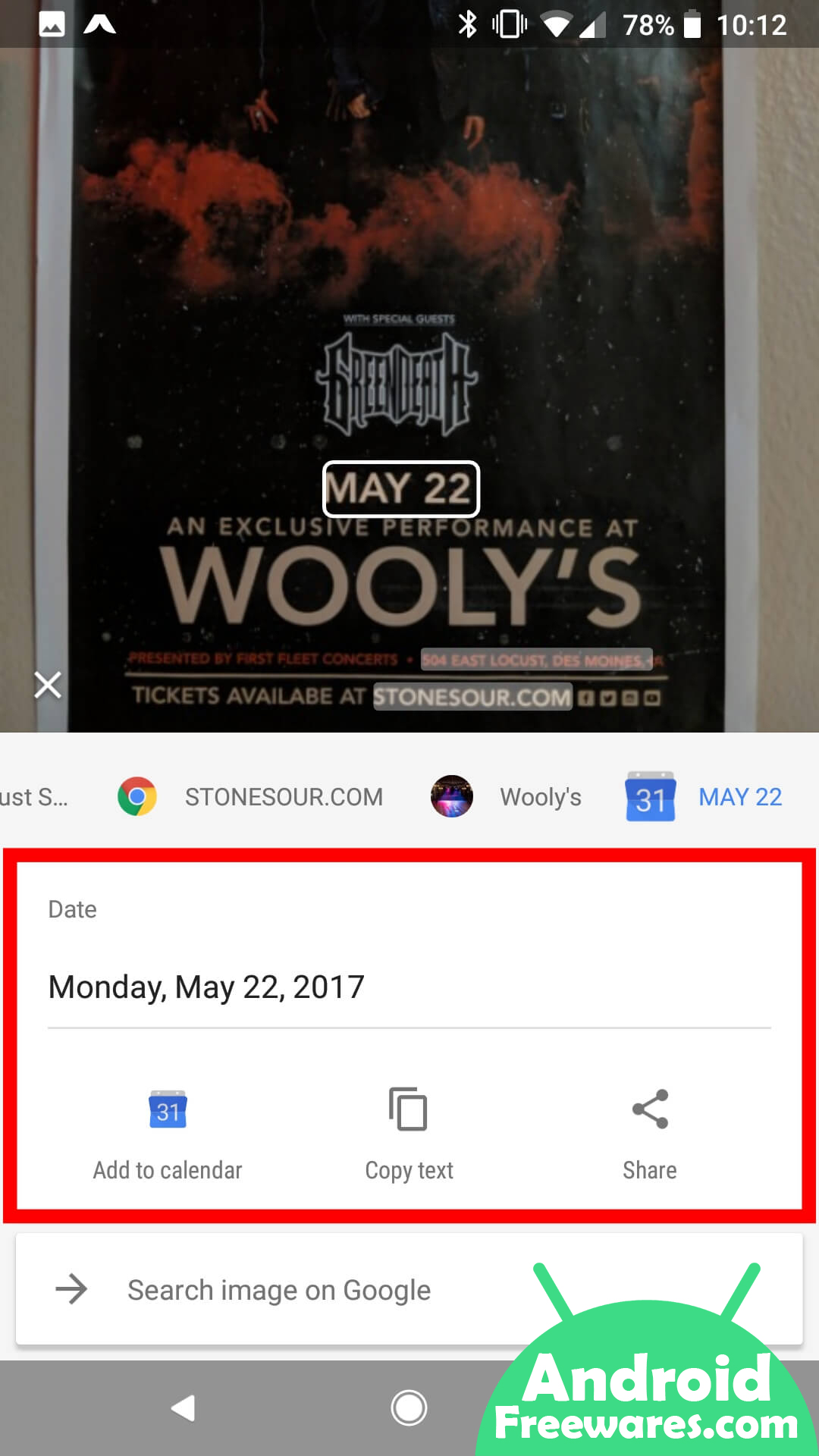 google lens add to calender