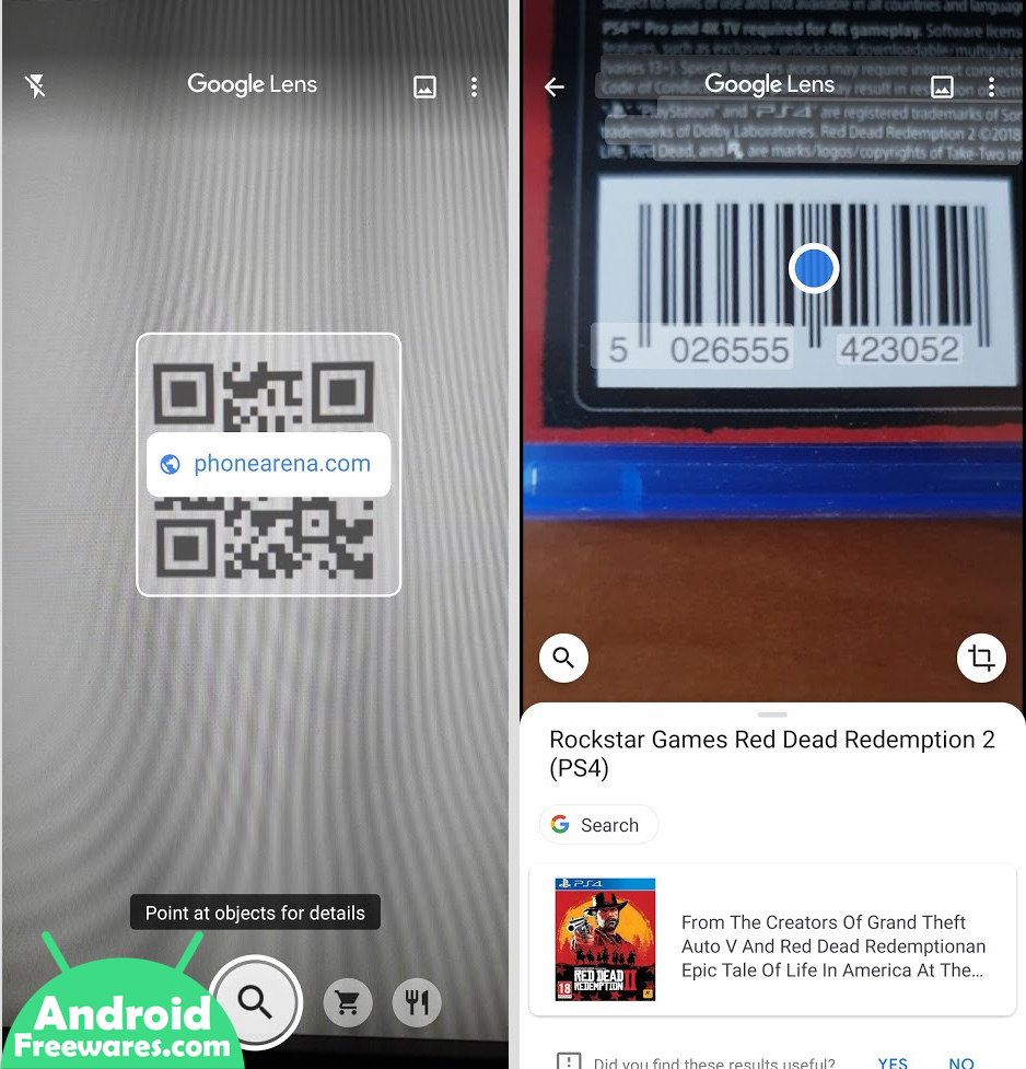 google lens scan qr codes