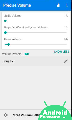 reduce volume on android